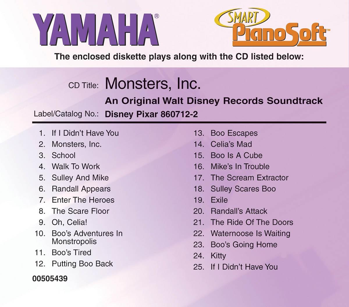 Monsters Inc Original Disney Soundtrack